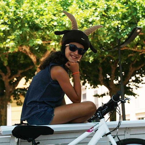 Funda casco Cabra Bicicleta
