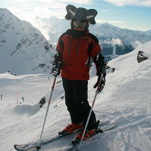 Funda casco forma de Elefante ski