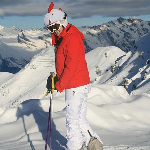 Funda casco Gallina esquí