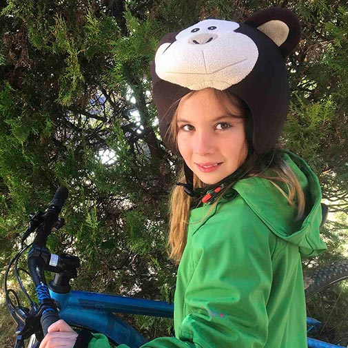 Funda casco Mono Bicicleta