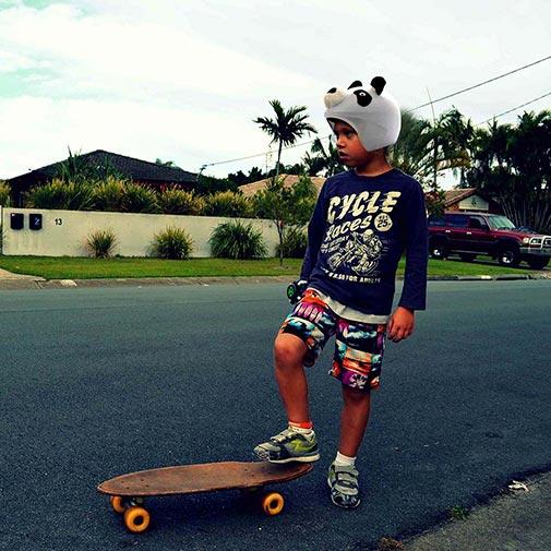 Funda casco Oso Panda Skate