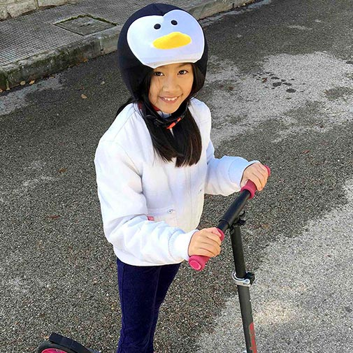 Funda casco Pingüino Patinete
