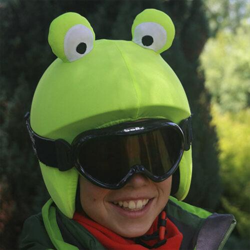 Funda casco Universal de Rana usada en esquí
