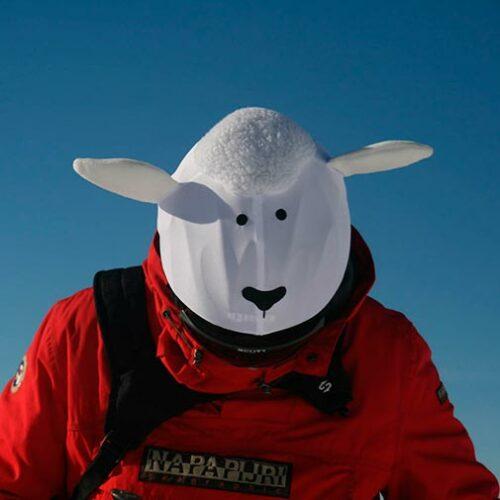 Funda casco oveja blanca Ski