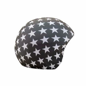 Funda casco fondo gris con Estrellas