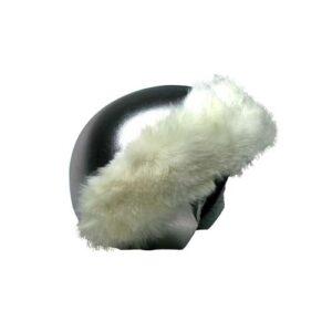 Funda casco Plata Piel Blanca