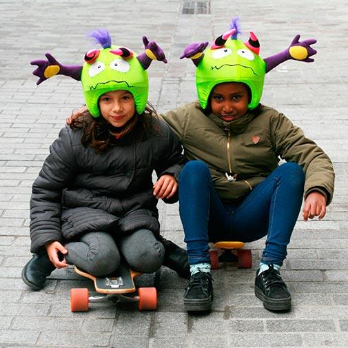 Funda casco Led Mr Higgins skate