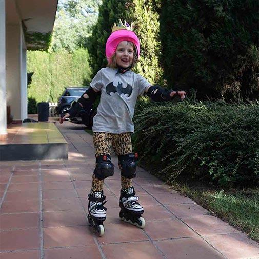Funda casco Led Reina patines
