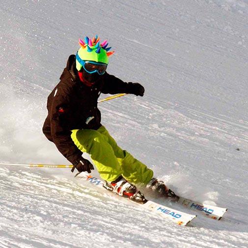 Funda casco Cuernos neón Ski