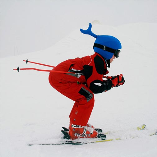 Funda casco Ballena esquiando