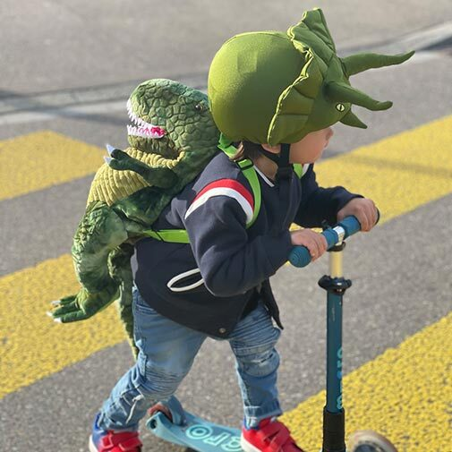 Funda casco Dinosaurio patinete