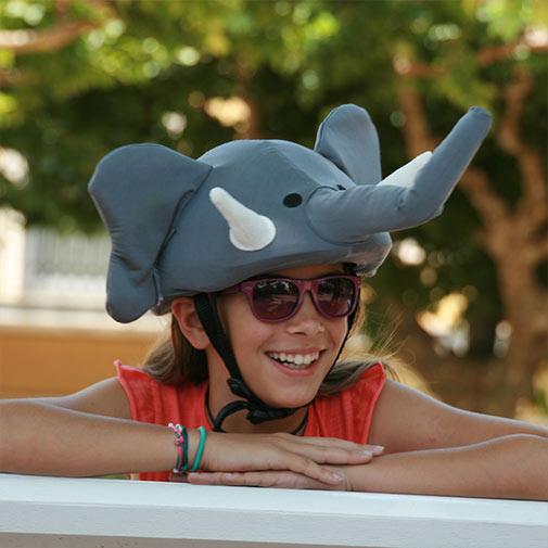 Funda casco Universal con forma de Elefante