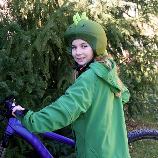 Funda casco Iguana Bicicleta