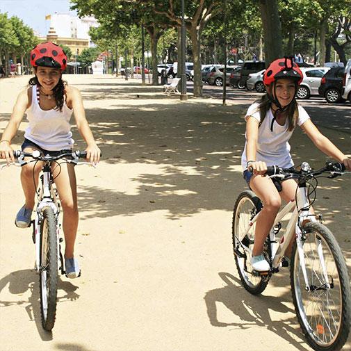 Funda casco Mariquita Bicicleta