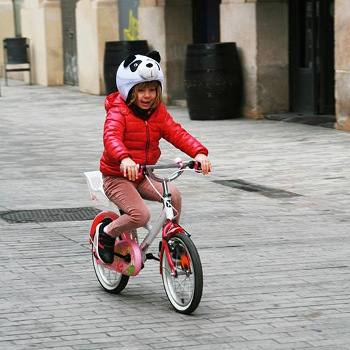 Funda casco Oso Panda Bike