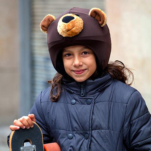 Funda casco de OSO Pardo skate