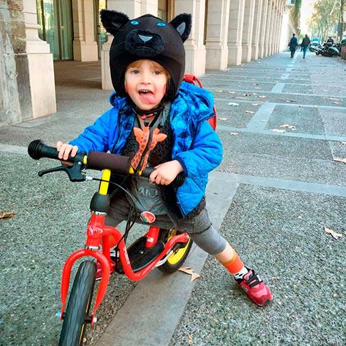 Funda casco Pantera Bicicleta
