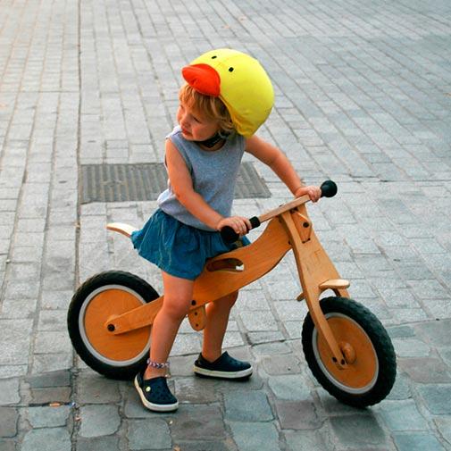 Funda para casco con forma de Pato Bicicleta