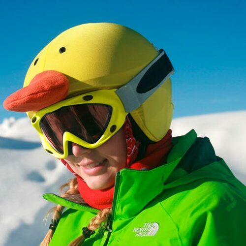Funda para casco con forma de Pato Ski