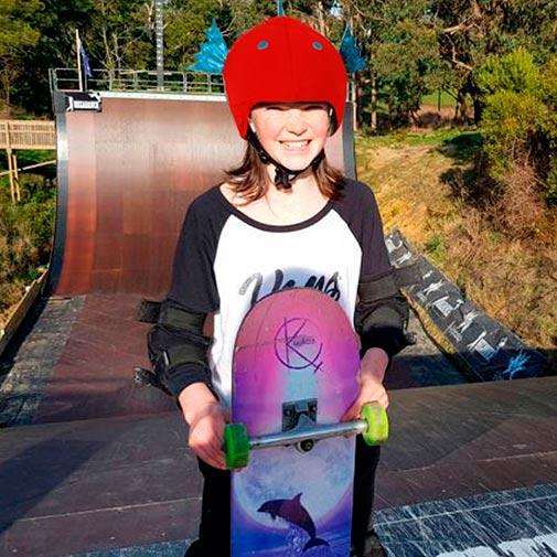 Funda casco con forma de Pez Skate