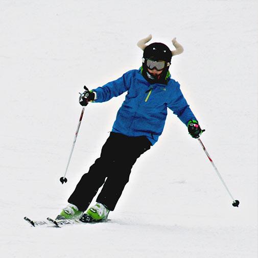 Funda casco de Toro usada en Esquí