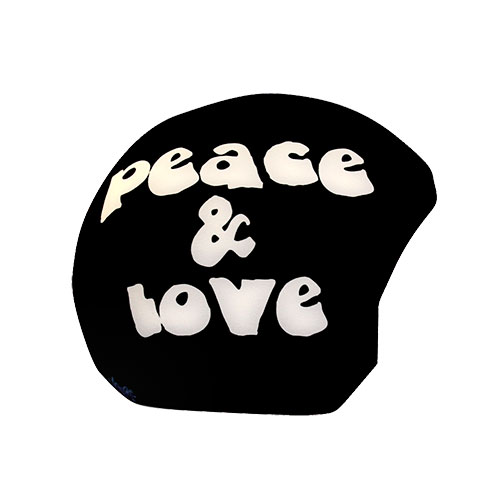 Funda casco Peace Love lateral
