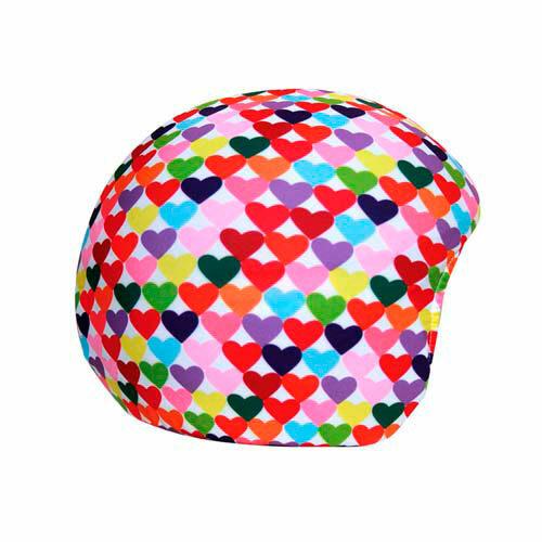 Funda casco Corazones Colores