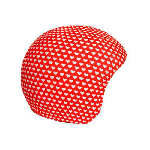 Funda casco Corazones blancos sobre rojos
