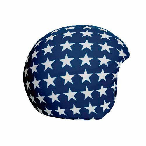 Funda casco Estrellas blancas sobre fondo azul
