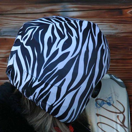 Funda casco Cebra