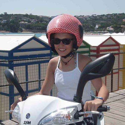 Funda casco Corazones Rojo Blanco Scooter