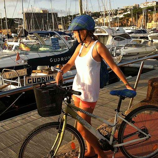 Funda casco Escocés Azul Bike