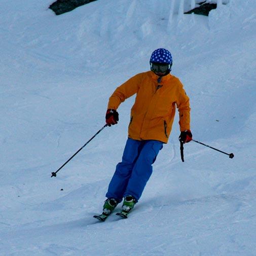 Funda casco Estrellas blancas fondo azul ski