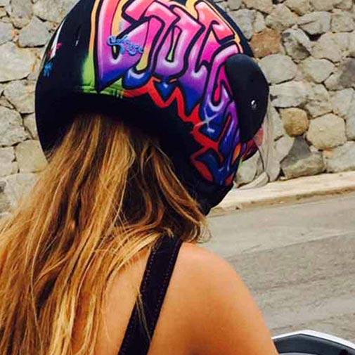 Funda casco Graffitti