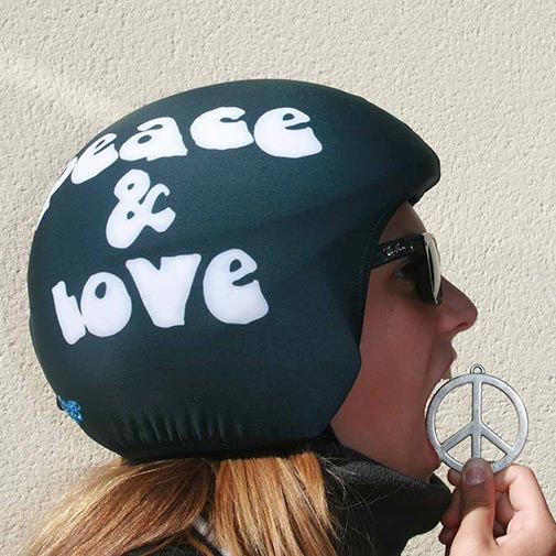 Funda casco Peace & Love