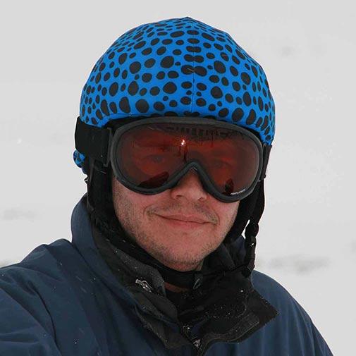 Funda casco Piedras Azul Negro ski