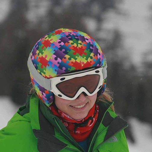 Funda casco Puzzle colores