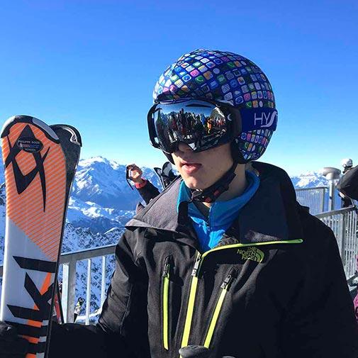 Funda casco móvil ski