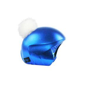 Funda casco Azul Pon-Pon beige