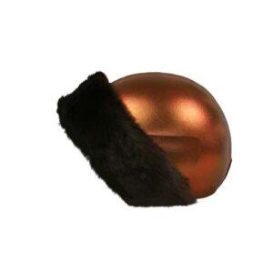 Funda casco bronce Piel Marrón Izquierda
