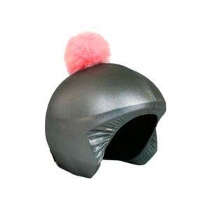 Funda casco Gris Pon-pon rosa C