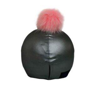 Funda casco Gris Pon-pon rosa T
