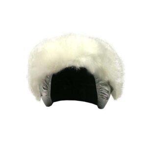Funda casco Plata Piel Blanca Frontal