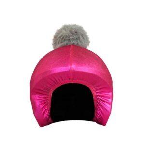 Funda casco rosa pon-pon gris F