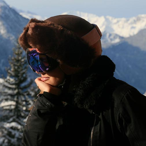 Funda casco bronce Piel Marrón Ski
