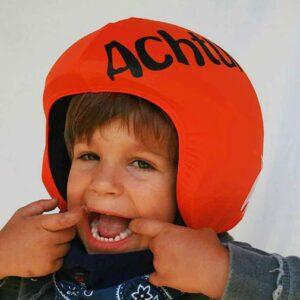 Funda casco Foggy Watch out niño