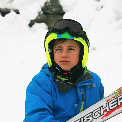 Funda casco Foggy rayas Ski