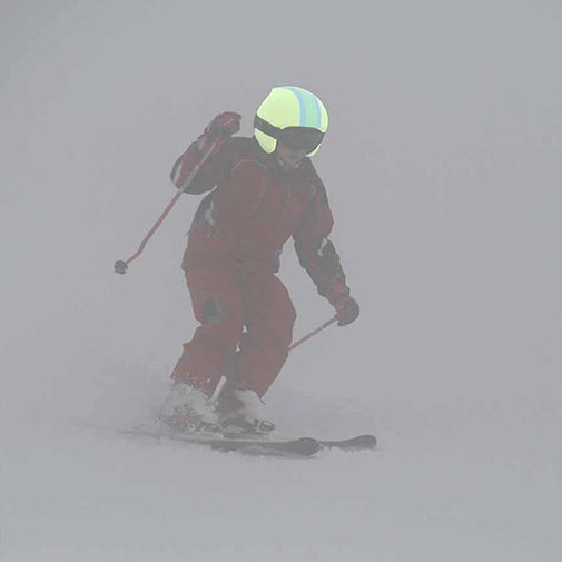 Funda casco Foggy rayas niebla