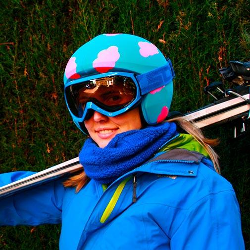 Funda casco Nubes Esquí