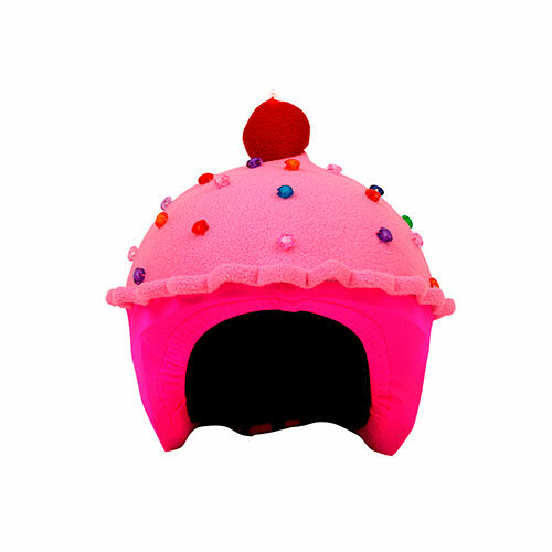 Funda casco Led Cup Cake Fresa Frontal